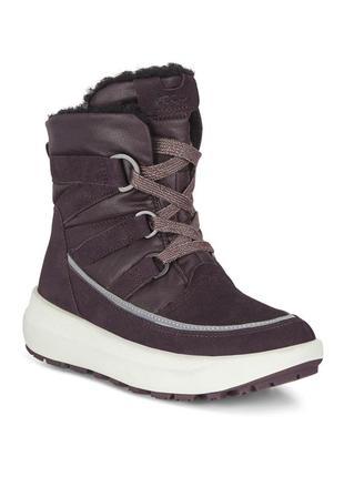 Ecco solice мембрана hydromax теплые, непромокаемые зимние ботинки  оригинал!