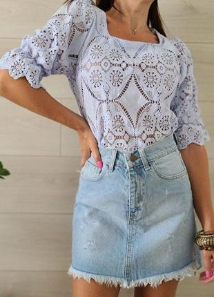 Кружевная блуза, футболка