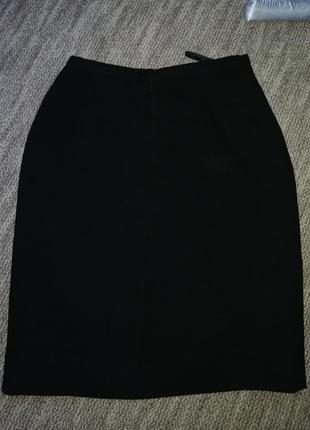Чёрная классическая юбка principles petite
