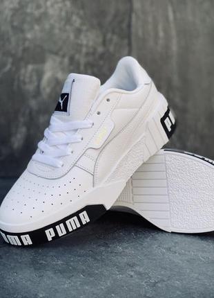 Кроссовки женские puma белые3 фото