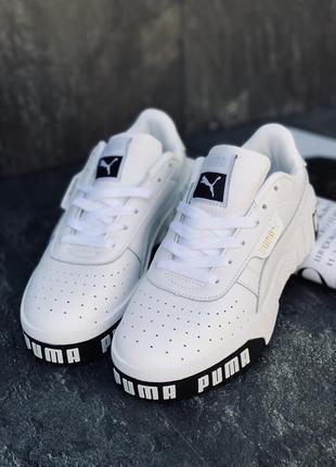 Кроссовки женские puma белые2 фото