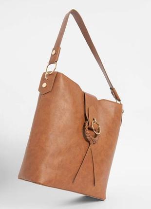 Шикарнейшая сумка orsay с красивенным плетёным декором!