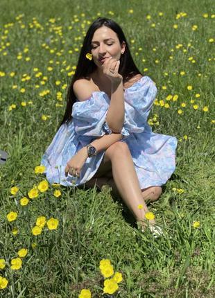 Платье мини натуральная ткань (selkie)