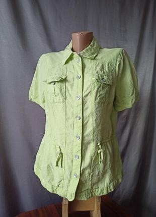 Красивая рубашка блузка лён