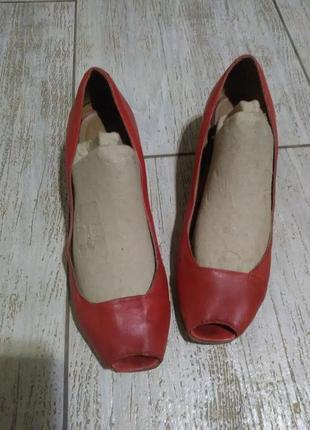 Туфли балетки лодочки мюли красные