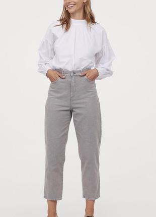 Джинсы  мом словчи брюки штани h&m 36-38-40