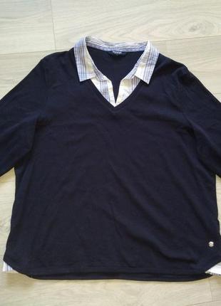 Трикотажная блуза большой размер
