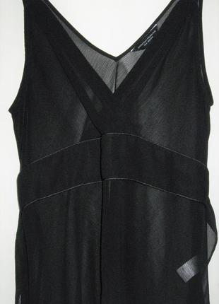 Черная блуза шифон без рукавов