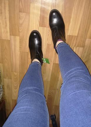 Демисезон ботинки,на устойчивом каблуке, антистресс-колодка, 40-й , германия,