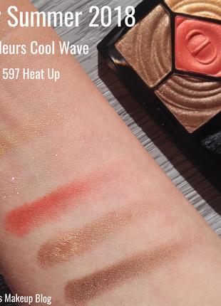 Тени dior 5 couleurs cool wave palettes - 597 heat up