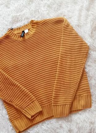 Желто -горчичный свитер оверсайз 💣😻очень круто садится по фигуре джемпер