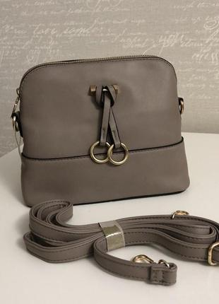 Сумка сумочка серая с кольцами