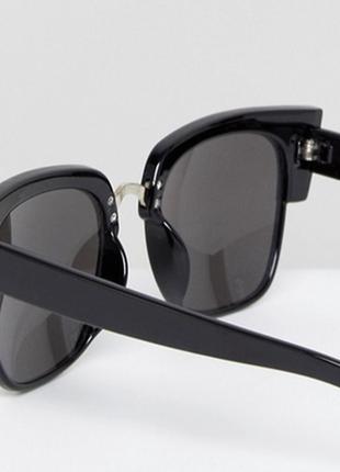 """Гламурные черные солнцезащитные очки от glamorous рамки  """"кошачий глаз"""" , fc3 - высокая защита"""