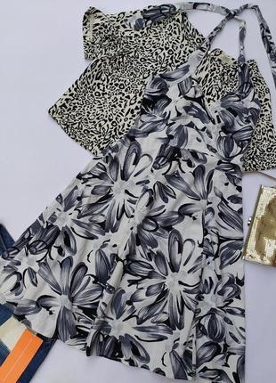 Стильное базовое платье миди котон