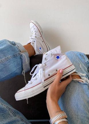 Кросівки кеди chuk taylor classic white high кроссовки