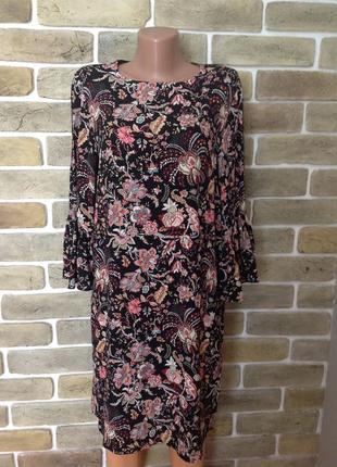 Новое платье в  цветы 💯 % вискоза  размер 10