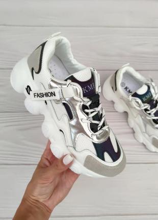 Жіночі кросівки, женские кроссовки серые белые