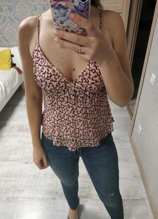 Легкая новая красивая блуза топ майка