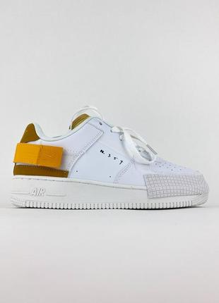 Кроссовки nike air force type 1 white orange