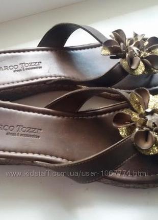 Шлепки marco tozzi 40-41 размер