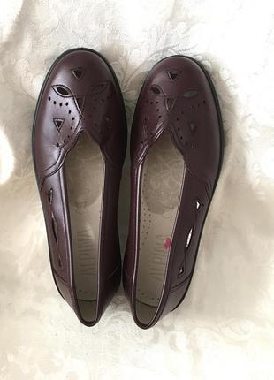 Кожаные туфли нат. кожа
