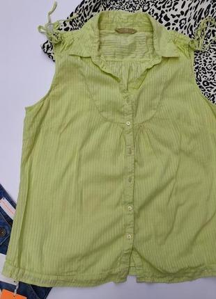 Рубашка блуза футболка большого размера цвет лайм
