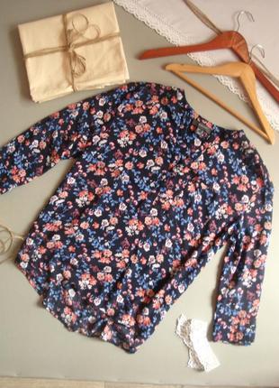 Натуральная рубашка с укороченным рукавом