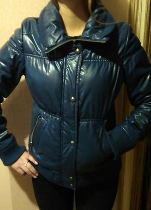 Курточка из экокожи на синтепоне