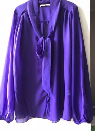 Модные вещи для пышных дам блуза фиалкового цвета