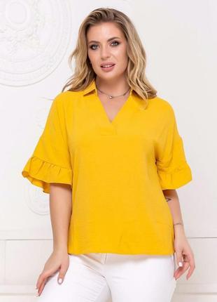 Модная блуза креп разные цвета батал