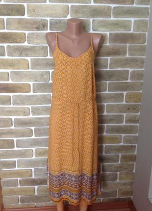 Легкое платье сарафан на тонких бретелях на жару 100% вискоза размер 8