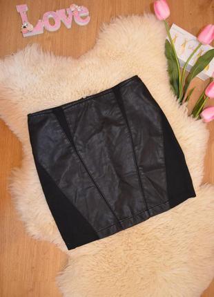 Only классная юбка эко-кожа