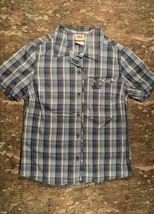 Треккинговая рубашка jack wolfskin organic cotton, оригинал, размер m/l