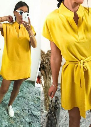 Платье креп жатка разные цвета