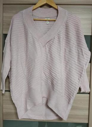 Стильный нежный свитерок с v-образным вырезом
