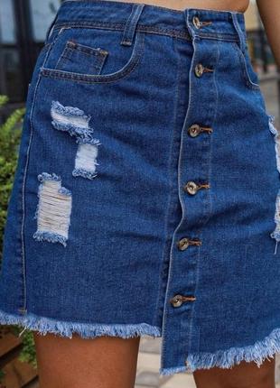 Женская джинсовая юбка 42, 44, 46 р