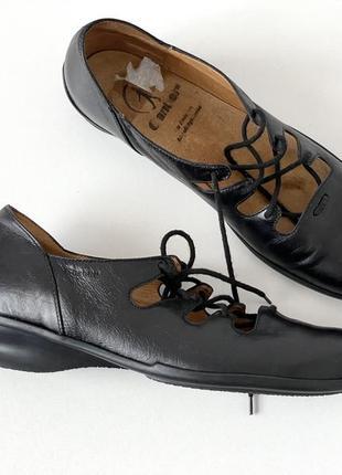 Ganter кожаные босоножки туфли на шнурках р.40