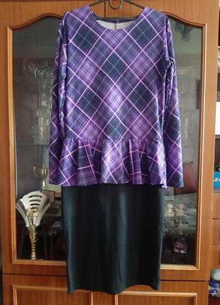Красивое миди платье, производство украина, размер 12, l, 40-42