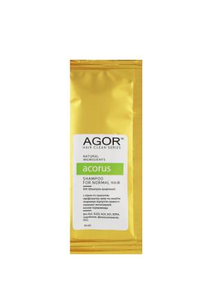 Био-шампунь для нормальных волос agor hair clean series acorus (пробник) 10мл