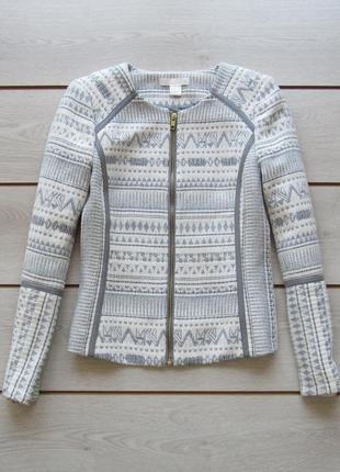 Шикарный пиджак жакет блейзер на молнии от h&m