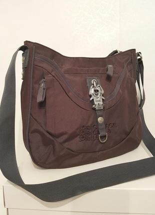Породистая сумка crossbody george gina&lucy нейлон красивый шоколадный цвет