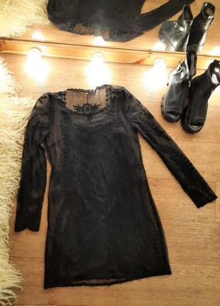 Платье майка + сетка xs-s
