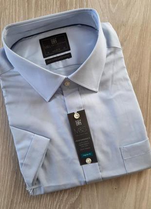Мужская рубашка  с коротким рукавом marks&spencer большой размер