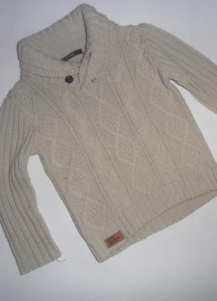 Стильный шерстяной свитер george