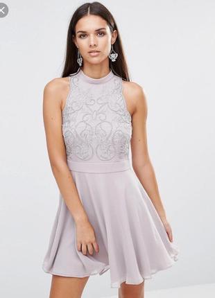 Стильна сукня вечірня, сукня з бісером