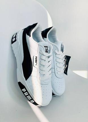 Женские кроссовки cali white/black демисезонные