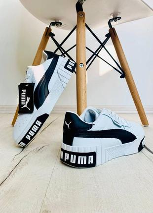 Женские кроссовки cali white/black демисезонные3 фото