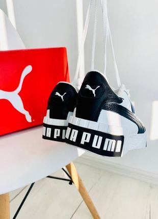 Женские кроссовки cali white/black демисезонные6 фото