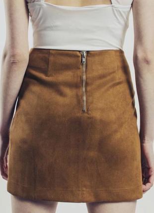 Замшевая юбка под замш замшу