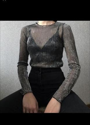 Блуза люрекс topshop
